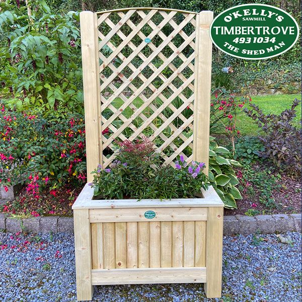 Diamond Trellis Planter