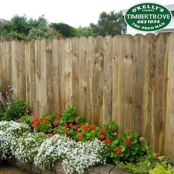 Round Top Closeboard Fencing Panel